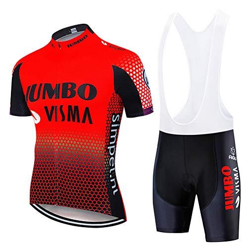 Wielrenshirt Suit heren Fietskleding met korte mouwen Mtb Top + 9D Gel Padded Bib Shorts voor MTB