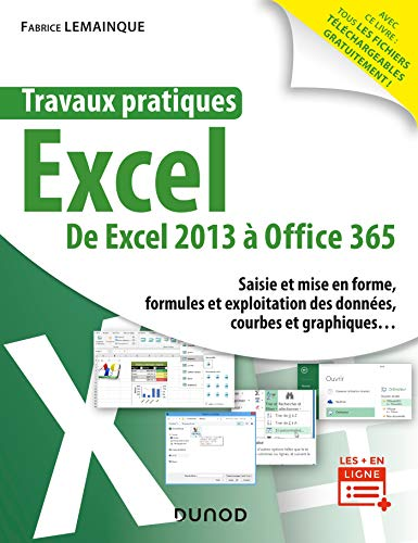 Travaux pratiques - Excel : Toutes versions 2013 à 2019 et Office 365 (French Edition)