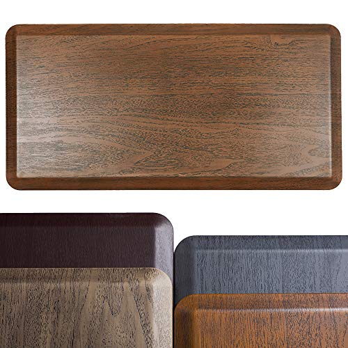Broad Home Extra Thick Anti Fatigue Kitchen Mat - Non-Slip Kitchen Rug - Waterproof Standing Desk Mat for Offices, Home, Garages - Relieves Pain (Natural Wood Grain, 20''x39''x3/4'')
