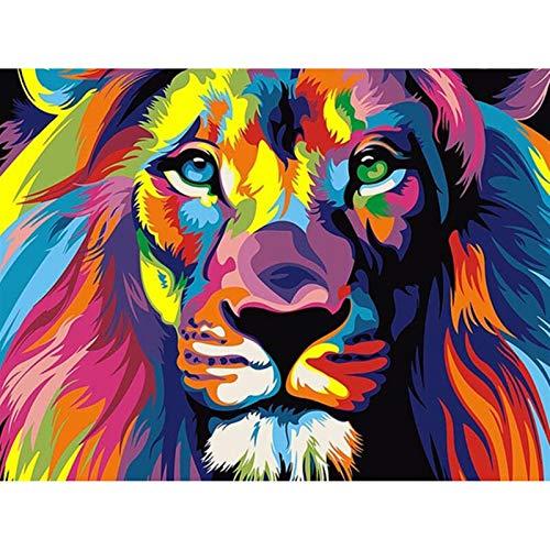 MZA DIY Bricolaje 5d Diamante Colorido de la Pintura Conjunto de Animales...