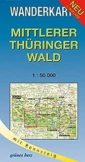 Mittlerer Thüringer Wald 1 : 50 000 Wanderkarte: Mit Rennsteig