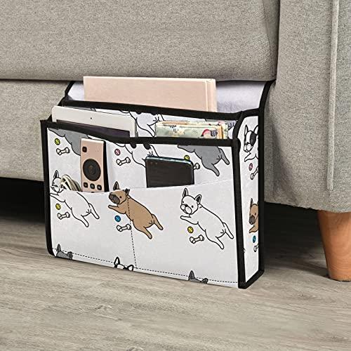 Emelivor Lindos perros cabecera Caddy organizador de almacenamiento mesita de noche mesa gabinete de almacenamiento universitario dormitorio esencial para teléfonos libros campamento Rv
