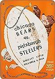 Chicago Bears vs. Pittsburgh Steelers Blechschild Retro
