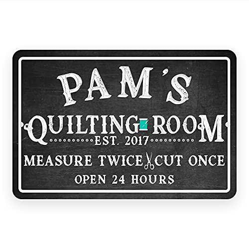 Personalized Quilting Room Chalkboard