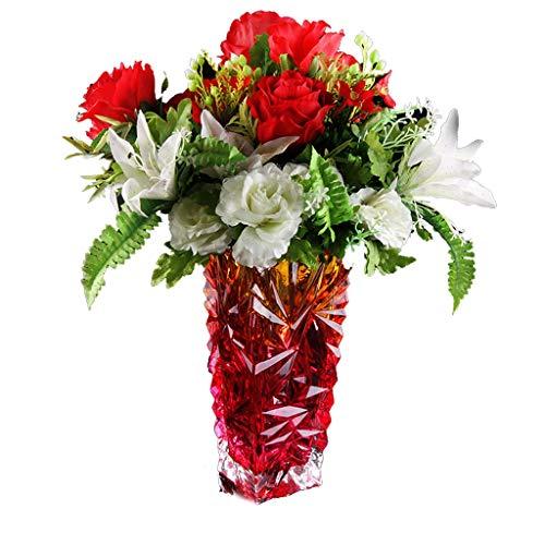 PLL Farbverlauf Crystal Flowers Vasen Home Vasen Warm Kreative Blumenarrangements Verdickung und Textur