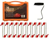 Primal Force Heavy Duty Ground Stakes/Pegs for Tents - Screw Design, Rust...