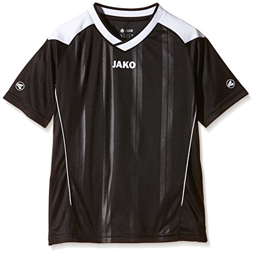 JAKO Kinder Fußballtrikots Copa KA, Schwarz/Weiß, 116