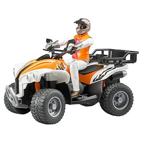 BRUDER - 63000 - Quad orange avec figurine