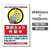 防犯カメラ作動中 W400mm×H600mm 防犯カメラ カメラ録画中 監視カメラ パネル看板 プレート看板 激安看板!(camera-363)