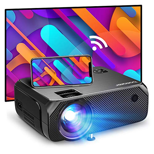 Bomaker Proyector WiFi, Proyector Full HD 1080P Nativo Soporte para Exteriores, Proyector de Juegos Nativo 720P, iOS / Android / Laptop / PS5 / Win10, Compatible con TV Stick
