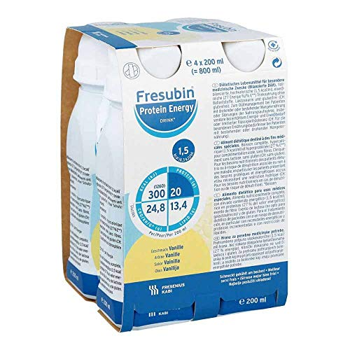 Fresenius Kabi Fresubin Protein Energy Drink Vanille Trinkflasche, 4 x 200 ml, 1er Pack (1 x 1 kg)