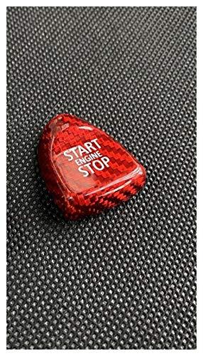 FangFang Kohlefaserinnenraummotor starten Stop Push-Taste Abdeckung Cap Trim Start Stop EIN Taste fit für Mini Cooper f54 f55 f56 f57 f60 (Color Name : Red Carbon Fiber)