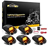 Partsam 5X Amber 24 LED Smoke Cab Roof Running Top Marker Lights 264146BK Assembly Wire Harness Replacement for 1500 2500 3500 4500 5500 2003-2018 Pickup Trucks