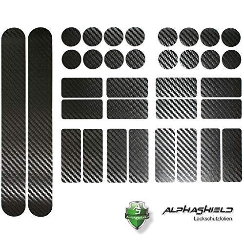 Finest-Folia Carbon Schwarz Fahrrad Aufkleber Rahmen Schutz Folie MTB BMX Ketten Streben K098 2X K100