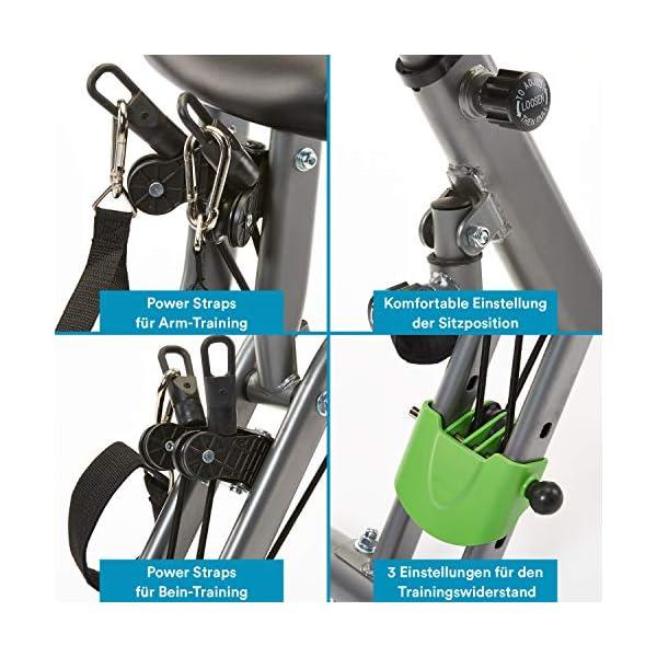 V/élo dappartement x-Bike Pliant SKANDIKA Foldaway X-3000 8 Niveaux de Resistance Dossier//Bluetooth