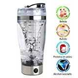 ZhongYeYuanDianZiKeJi Proteínas Shaker Botella 450ML Creativo Portátil Mixer Eléctrica Botella...