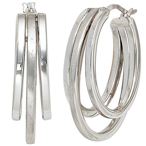 JOBO Damen-Creolen aus 925 Silber
