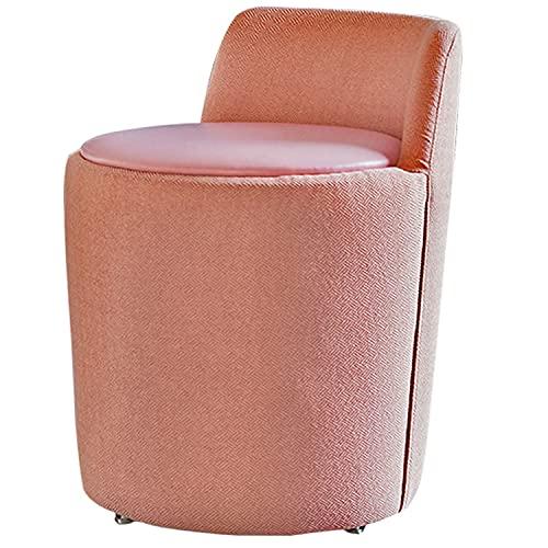 Poltrona Imbottita Circolare, Sedia da Trucco per Camera da Letto, Sedia da Cucina Sala da Pranzo con Schienale