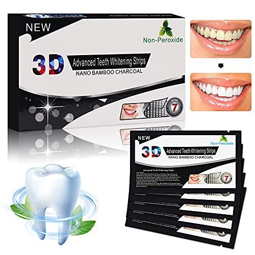 White Stripes, Zahnweiß Streifen, Zahn Bleaching Strips, Advanced Dental Whitener Kits mit rutschfester Technologie, sicher zum Entfernen von Kaffee, Tee und Tabakflecken, 28 Stück