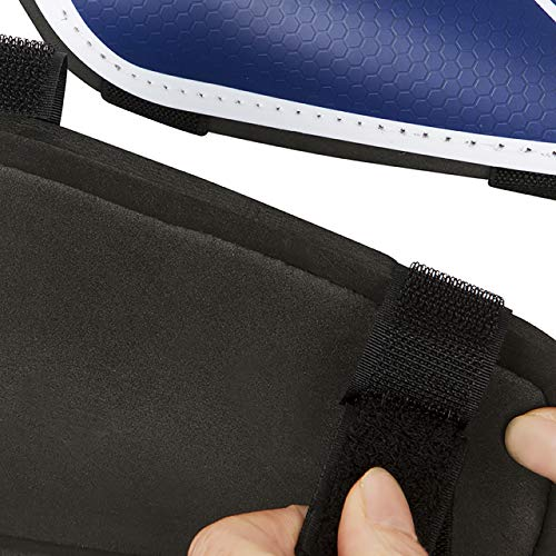 55 Sport Vortex Lite Protective Football Shin Guards - Blue - XL