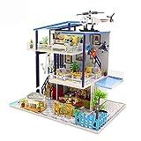 WanuigH Los niños juegan Tienda DIY habitación Miniatura Set-Woodcraft Construction Kit-Madera Modelo Juego de construcción Mini-House Craft Juguetes para niñas/niños niños