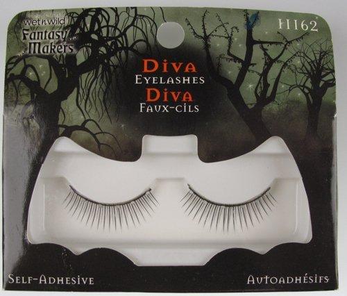 Fantasy Makers Eyelashes Wet N Wild Diva Eye Lashes with Rhinestones - 11162 by Fantasy Makers