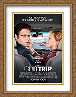 The Guilt Trip 28x36 Double Matted Large Gold Ornate Framed Movie Poster Art Print