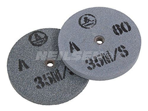 Pack of 2 Replacement grinding wheels for Bench Grinders 150mm - fine and...