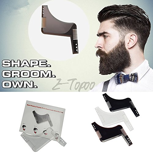Beard Comb Men Shaping Tool Transparent Template Styling Comb for line up &...