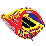 SPORTSSTUFF Poparazzi 1-3 Rider Towable Tube for Boating, Red