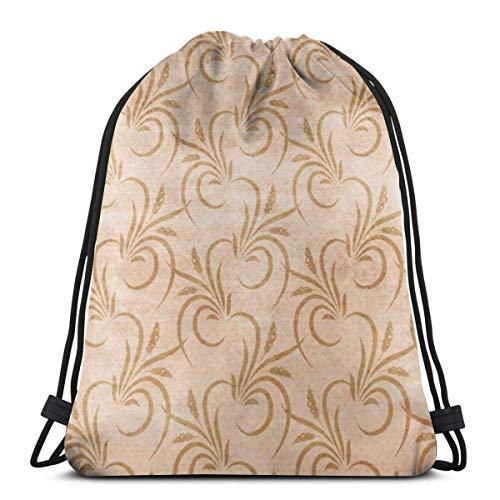 XCNGG Sporttasche Kordeltasche Reisetasche Sporttasche Schultasche Rucksack Free Western Flourish Seamless Pattern Gym Bag Travel Drawstring Backpack Men & Women Sport Bag Portable Storage Bag for Cam