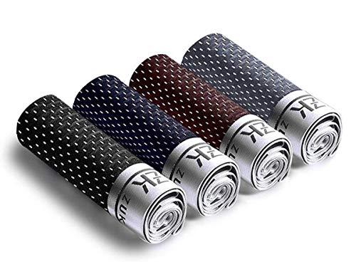 HuntDream Packung mit 4 Mesh-Unterwäsche mit Luftloch Männer Breathable Boxer Briefs