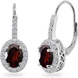 """MARQUISE Shape Gemstone TRIBAL Jewelry 925 Solid Silver GARNET Earrings 1.3/"""""""