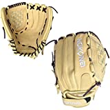 NOKONA AmericanKip Blonde 12.5 Inch A-V1250C-BL PU Fastpitch Softball Glove (Purple Lacing)