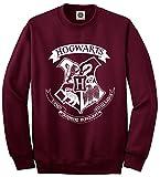 Sudadera unisex con logotipo de Hogwarts - Colegio Hogwarts de Magia y Hechicería, Harry Potter granate L