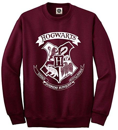 Sudadera unisex con logotipo de Hogwarts - Colegio Hogwarts de Magia y Hechicería, Harry Potter granate XL