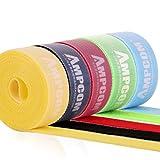 AMPCOM 結束バンドマジックバンド 結束テープ 自由にカット 線整理 ケーブル/コード等収納 幅2cm 長さ200cm 5色 オフィス用/お部屋用 (5枚セット10m)