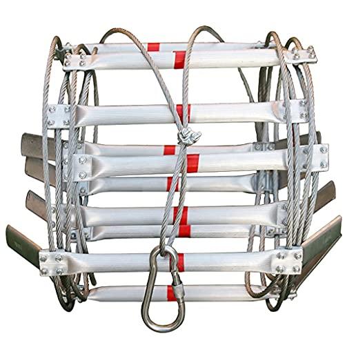 GAXQFEI Escaleras de Emergencia para Casas de 2 Pisos Escalera de Ahorro de Vida de Aleación de Aluminio para Rescate, Escapes de Incendios para Edificios de Gran Altura, Regalo/Blanco/3M/9.8Ft