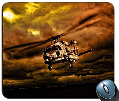 Mauspad Gaming-Mauspad Wasserdichtes Mauspad Ultradickes, seidiges, glattes, genähtes Muster für amerikanische Hubschrauber