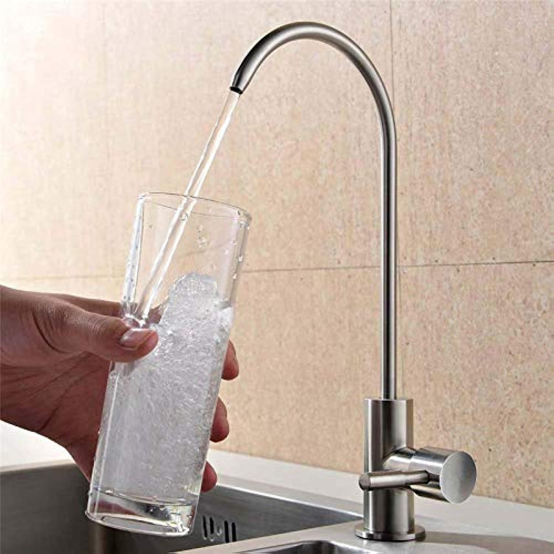SLTYSCF wasserhahn Spülbecken Trinkwasser Wasserhahn Handels Wasser Filtration Wasserhahn Nickel gebürstet 100% bleifrei 1 4-Zoll-Rohr