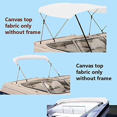 "BOAT PONTOON BIMINI TOP TEAL 4 BOW 96/""L 54/""H 85/"" W// BOOT /& REAR POLES 90/""W"