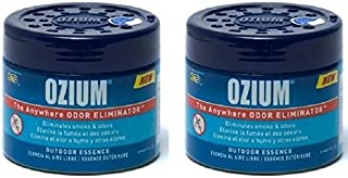 Ozium Smoke & Odors Eliminator Gel. Home, Office and Car Air Freshener 4.5oz (127g), Outdoor Essence Scent (2 pack)