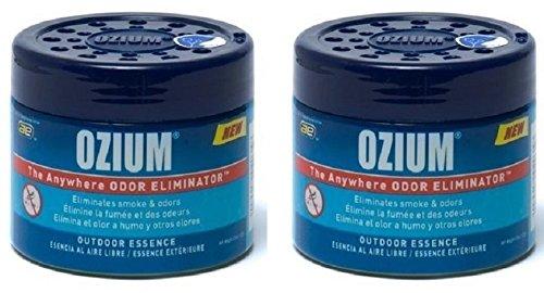 Ozium Smoke & Odors Eliminator Gel. Home, Office and Car Air Freshener 4.5oz (127g), Outdoor Essence...