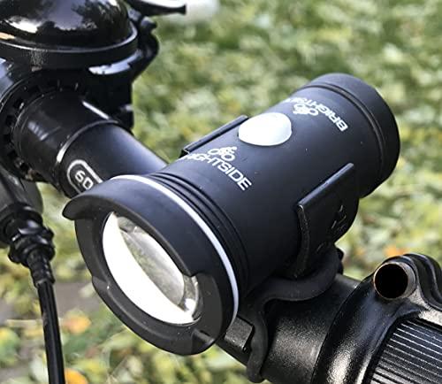 Frontside Fahrradlicht und Fahrradhelm-Leuchte, helle 100 Lumen wiederaufladbare LED Helmlampe und Fahrrad-Frontlicht
