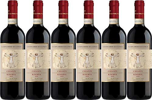 6x Leonardo Chianti Riserva 2016 - Weingut Cantine Leonardo da Vinci, Chianti - Rotwein