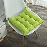AMZ Chair Pad Cushion Seat Pads, Indoor Outdoor Dining Home Office Garden Decor (15 x 15 inches, Microfibre, Green)