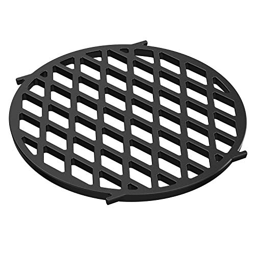 only fire Gourmet BBQ System Sear Grate Replacement for Weber 8834, Porcelain-Enameled Cast-Iron Cooking Grid for 22 1/2 inch Weber Charcoal Grills