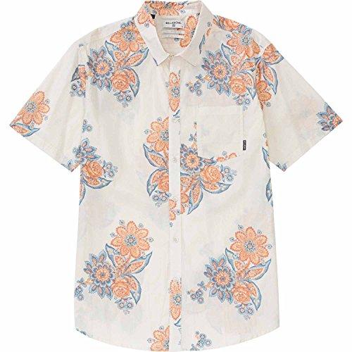 Billabong Men's Tropics Short Sleeve Woven Shirt, Bone, Small