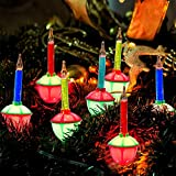 Goothy Multicolor Bubble Lights Set, 11Ft Vintage Outdoor Christmas String Lights with 8 Multicolor Bubble Lights (1 Spare), C7/E12 Base, UL Listed for Christmas Tree Holiday House Lighting Decor