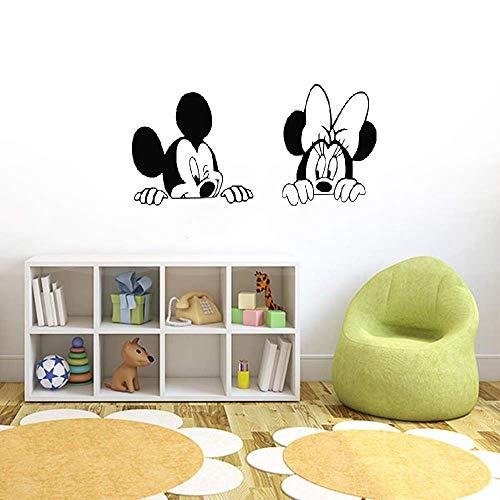 Décoration murale Mickey Minnie Mouse Mickey Minnie Mouse Pour Chambre D'enfants Accessoires De Chambre De Bébé Décor À La Maison Dessin Animé Diy Art Mural